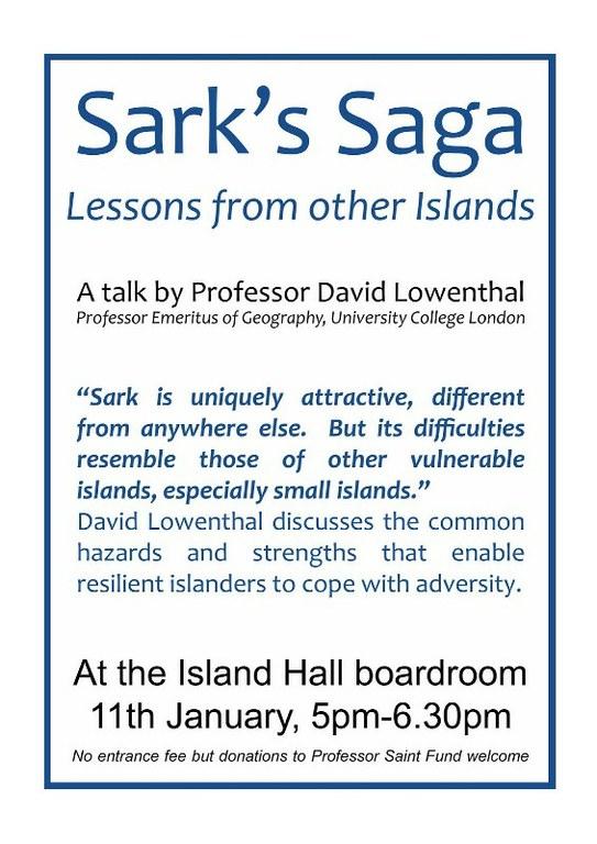 David Lowenthal advises Sark