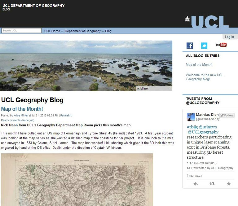 Launch of UCL Geography Blog