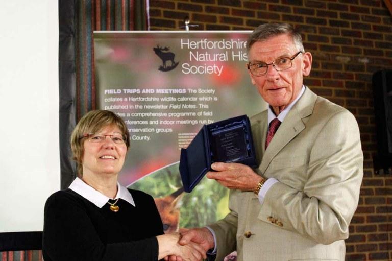 Hertfordshire Natural History Society honours John Catt