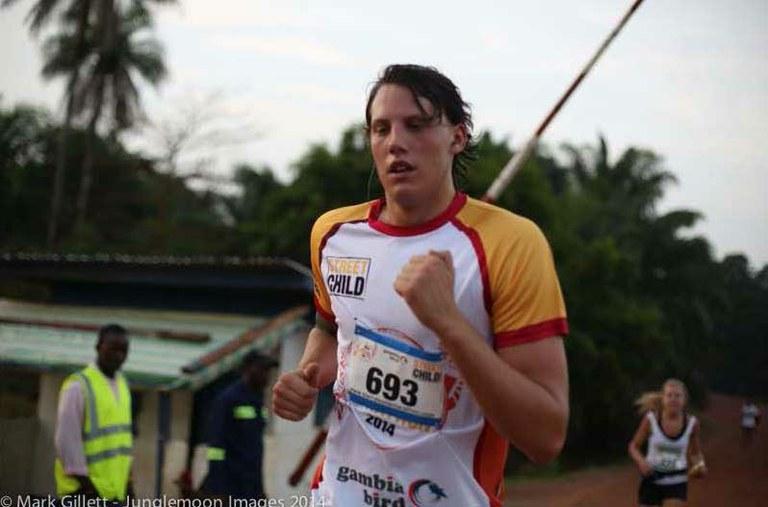Billy runs the Sierra Leone Marathon