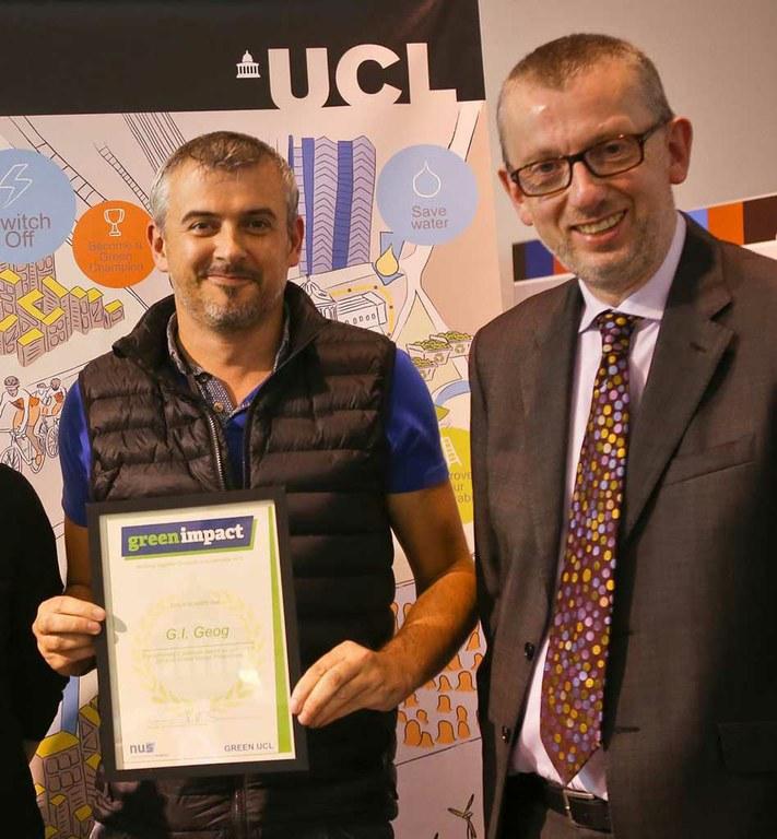Geography wins Platinum Green Impact Award 2015