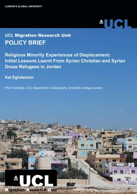 The experiences of Syrian Christian and Druze Refugees in Jordan