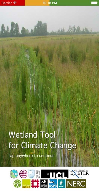 Wetlands and Climate Change via the App Store