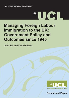 Managing Foreign Labour Immigration to the UK since 1945