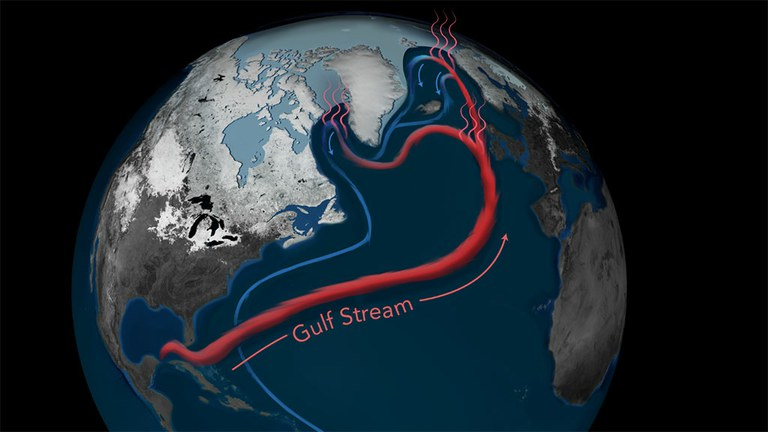 Earth's Gulf Stream System at its weakest in over a millennium