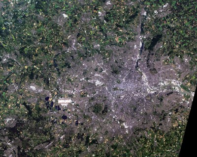 75 x 60 km area of London and SE England (NASA)