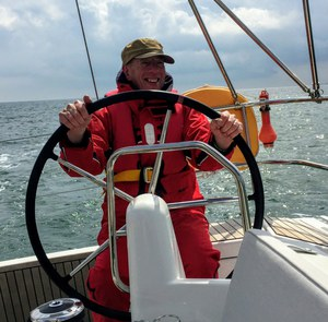 Pete at the helm