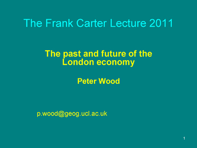 Carter lecture front-page